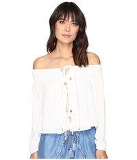 Lovers Friends Josette Top Ivory Women's Clothing White