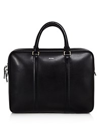 Paul Smith Slim Leather Briefcase Black