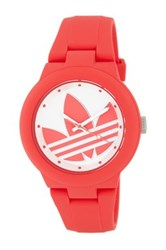 Adidas Unisex Aberdeen Casual Silicone Watch Red