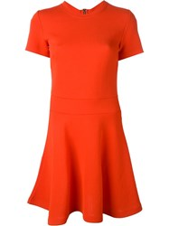 Mcq By Alexander Mcqueen Mcq Alexander Mcqueen Shortsleeved Skater Dress Yellow And Orange