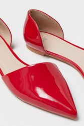 Handm H M Pointed Flats Red