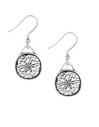 Lucky Brand Pave Holiday Luxe Silvertone Sugar Plum Drop Earrings