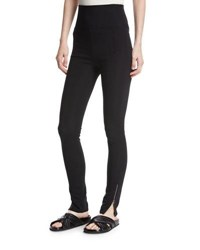 Helmut Lang High Waist Technical Zip Leggings Black