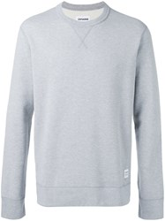Converse Classic Crew Sweatshirt Men Cotton M Grey