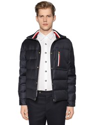Moncler Gamme Bleu Wool Down Jacket W Knit Collar