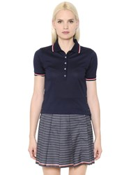 Thom Browne Cotton Pique Polo Shirt