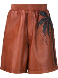 Dsquared2 Palm Tree Track Shorts Brown