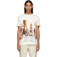 Lanvin White And Off White Panel Babar Ny T Shirt