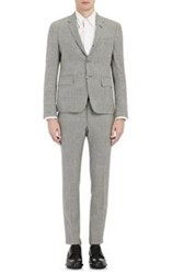Thom Browne Houndstooth Three Button Suit Black