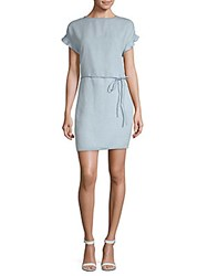 Beach Lunch Lounge Belted Shift Dress Light Blue