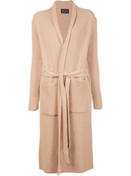 Baja East Long Robe Effect Cardigan Nude Neutrals