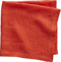 Cb2 Uno Orange Linen Napkin
