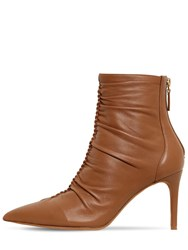 Alexandre Birman 85Mm Susanna Leather Ankle Boots Beige
