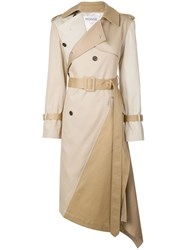 Monse Asymmetrical Trenchcoat Neutrals
