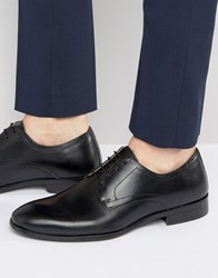 Red Tape Lace Up Smart Shoes In Black Leather Black