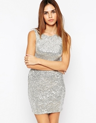 Lashes Of London Sequin Dress Silver