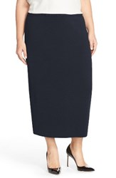 Eileen Fisher Plus Size Women's Silk And Organic Cotton Knit Midi Length Pencil Skirt