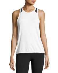 Alala Pace Mesh Back Tank Top White Black White Black