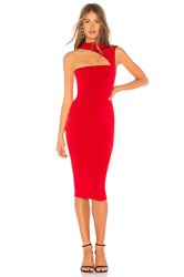 Nookie Charlize High Neck Dress Red