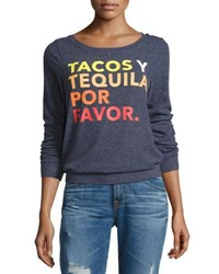 Chaser Tacos Y Tequila Knit Top Avalon