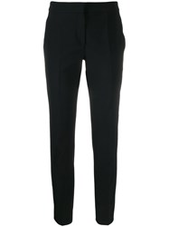 Moschino Cropped Straight Leg Trousers Black