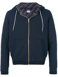 Moncler Gamme Bleu Maglia Zipped Hoodie Cotton Feather Down Polyamide Polyester Blue