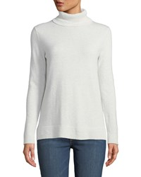 Neiman Marcus Modern Cashmere Turtleneck Sweater Moonlight Grey
