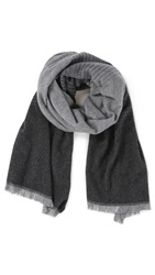 Vince Degrade Scarf Light Grey Heather Black