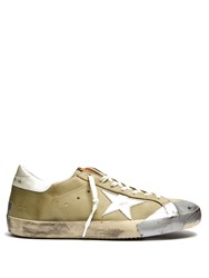 Golden Goose Super Star Low Top Trainers Green Multi