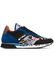 Etro Floral Print Sneakers Blue