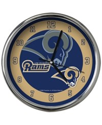 Memory Company Los Angeles Rams Chrome Clock Ii Navy Old Gold Silver