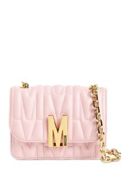 Moschino Sm Quilted Leather Shoulder Bag Pink