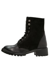 Pieces Psuda Laceup Boots Black
