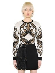 Fausto Puglisi Arabesque Wool Jacquard Knit Sweater