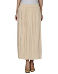 Care Of You Long Skirts Beige
