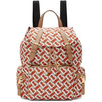 Burberry Red Medium Monogram Backpack