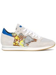 Philippe Model Tropez Camouflage Sneakers Grey