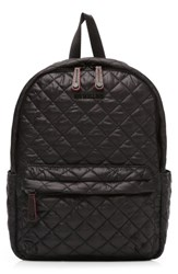 M Z Wallace Mz 'Small Metro' Quilted Oxford Nylon Backpack Black Black Oxford