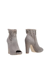 Janet And Janet Ankle Boots Dove Grey
