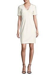 Elie Tahari Kimmy Textured Sheath Dress Antique White
