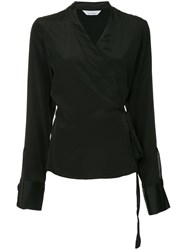 Kacey Devlin Wrap Blouse Black