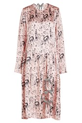 Shrimps Heather Printed Silk Dress Multicolored