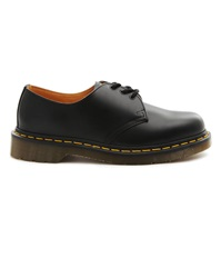 Dr. Martens 1461 Black Leather Derbies With Yellow Stitching