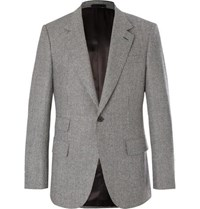 Kingsman Grey Slim Fit Puppytooth Wool Suit Jacket Gray