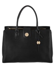 Lodis Rodeo Rfid Ally Work Leather Tote Black