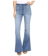 Volcom High Waisted Flare Ash Blue Women's Jeans