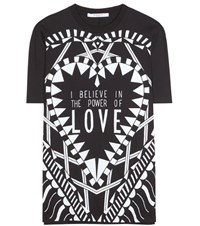 Givenchy Printed Cotton T Shirt Black
