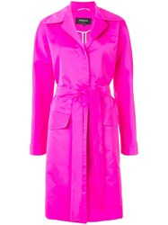 Rochas Belted Trench Coat Pink