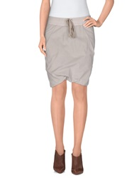 Drkshdw By Rick Owens Mini Skirts Light Grey