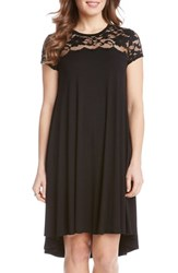 Women's Karen Kane Lace Yoke Cap Sleeve Swing Dress